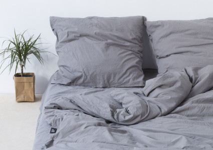 Pure Cotton Bedding Dark Grey